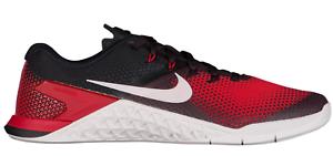 New Nike Metcon 4 Black Vast Grey Hyper Crimson Cross Training shoes 7453001 cd1