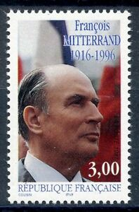 Charmant Stamp / Timbre France Neuf N° 3042 ** Francois Mitterand ProcéDéS De Teinture Minutieux