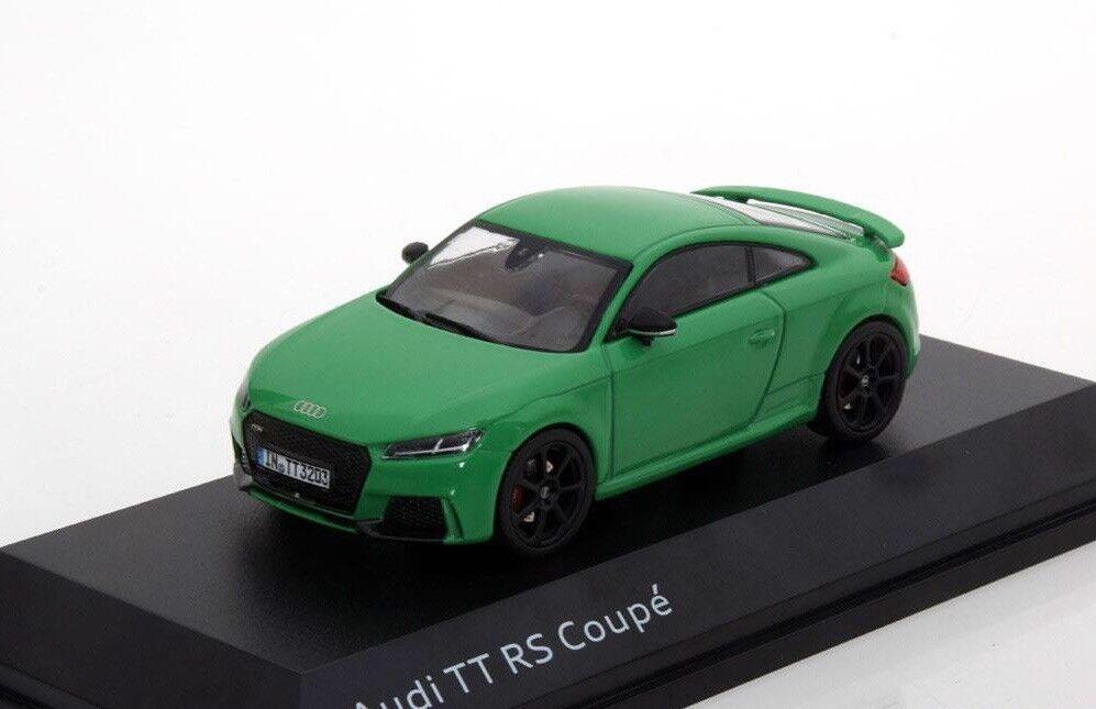 a la venta AUDI TT RS TTRS 8S 2.5 TFSI QUATTRO 2018 verde verde verde COUPE 1 43 I-SCALE (DEALER MODEL)  las mejores marcas venden barato
