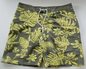 6274d9c1d5 Converse One Star Men's Size 34 Gray & Yellow Board Shorts Swim ...