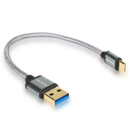 Braided USB 3.1 Type C to USB 3.0 Data Sync USB Charger Fast Charging Cable Cord
