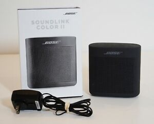 Bose Soundlink Color 752195 0100 Bluetooth Speaker Ii Soft Black Lightly Used Ebay