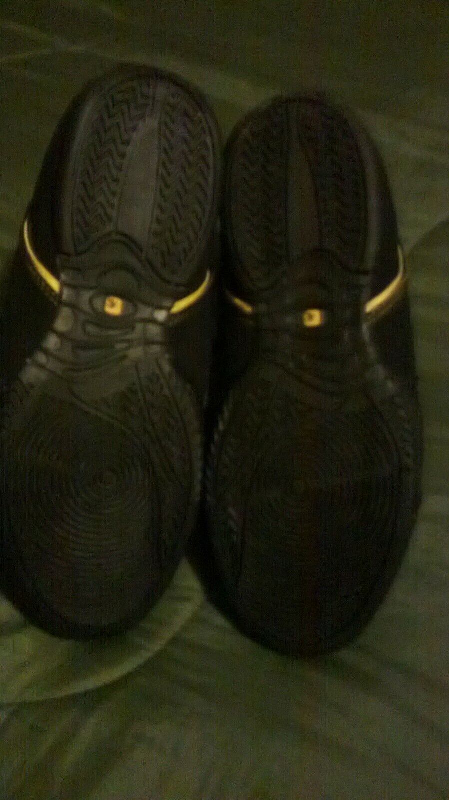 AND1 AND1 AND1 basketball boots size uk 7 new no box black/yellow unwanted gift 86bf0e