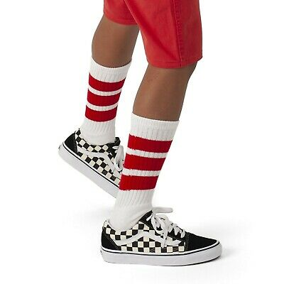 Skatersocks Mens Striped Knee-High Socks White wei/ß//royal blau One Size