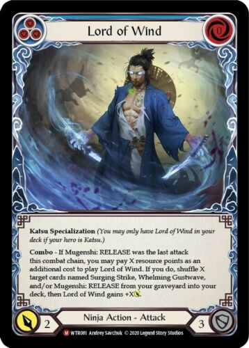 Unlimited Edition Flesh and Blood TCG 1x Lord of Wind NM Welcome to Rathe U
