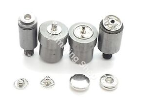Iron 10//12//15//17mm Dies Set for Green Machine Setting S Spring Press Studs Tool