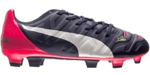 Puma evoPOWER 3.2 FG Junior Football Soccer Boots shoes bluee 103225 01 WOW SALE