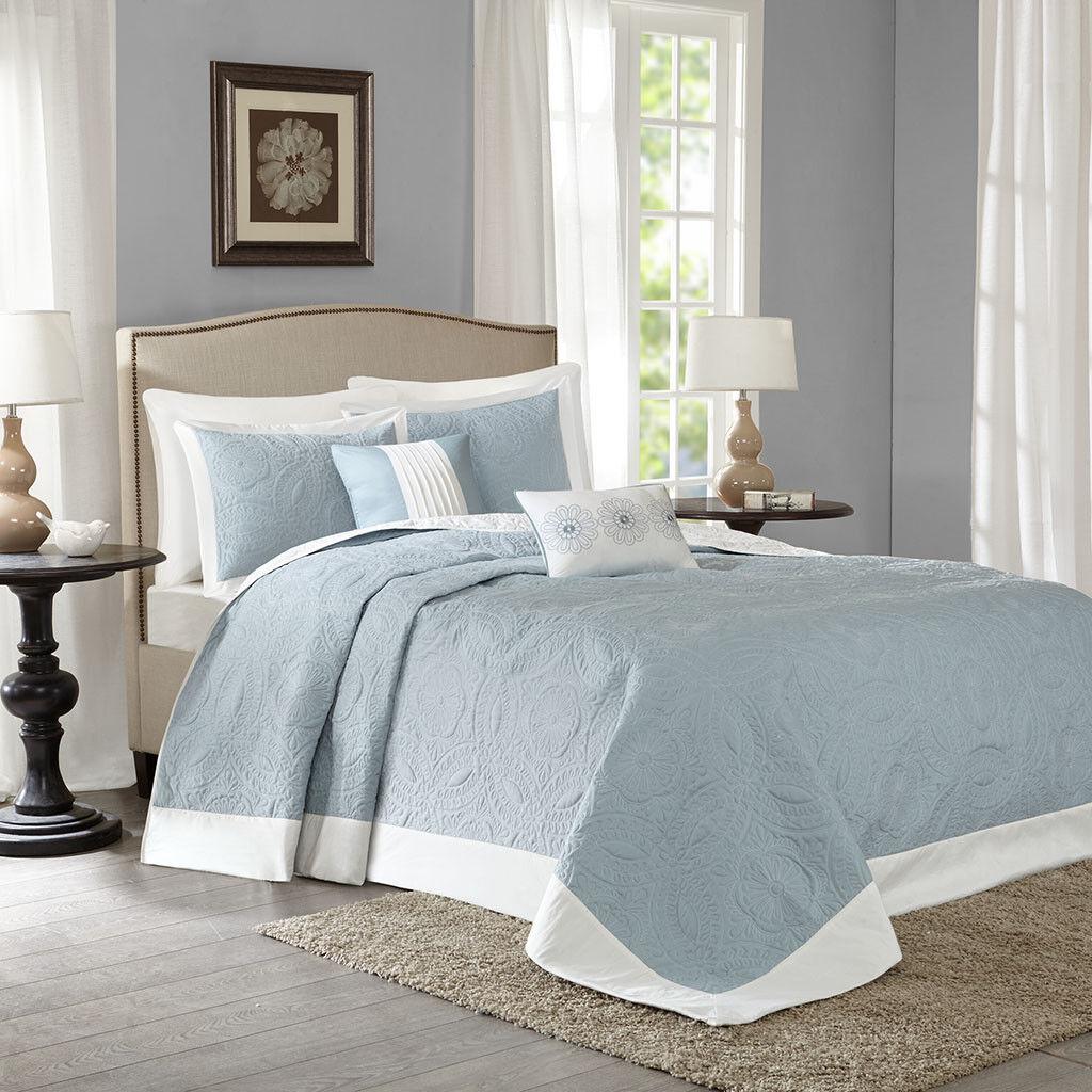 Madison Park Ashbury 5 Piece Reversible Bedspread Set