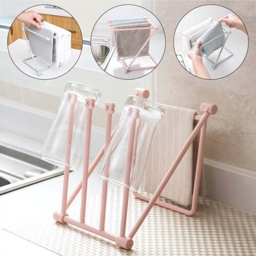 Kitchen Cloth Towel Rack Dish Holder Rag Storage Rack Drain Hanger Shelves Hot
