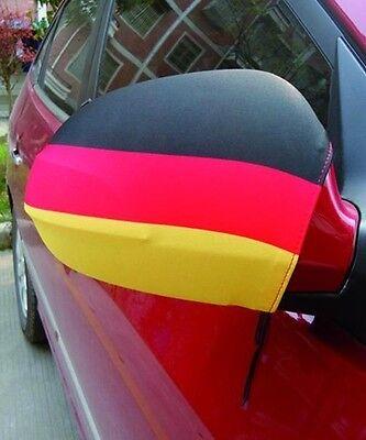 """Fahne """"deutschland"""" Für Auto-außenspiegel - SpiegelÜberzieher - 2er Set - Neu üBerlegene (In) QualitäT"""