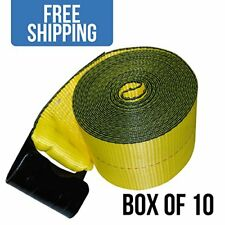 Heavy Duty Winch Straps With Flat Hook For Your Flatbed Trailer 10 Pack 4 X 30