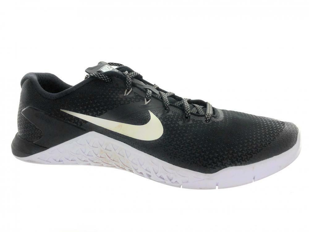 Uomo Nike Metcon 4 Cross Training Shoes AH7453-003 Nero White
