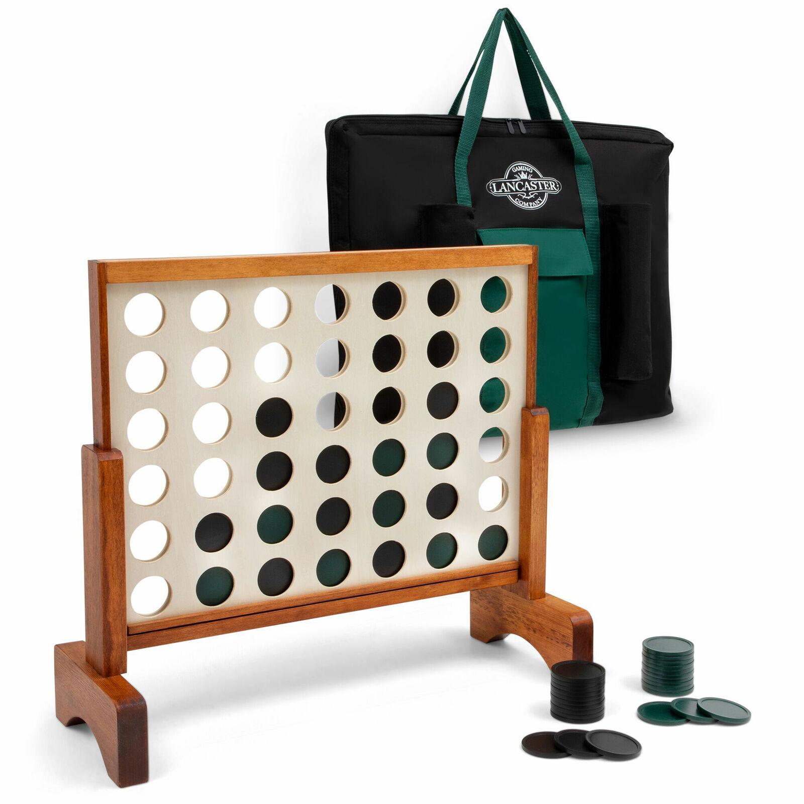 Lancaster Gaming Company 3 FT (environ 0.91 m) 4 in (environ 10.16 cm) une rangée en bois extérieur jeu avec sac de transport