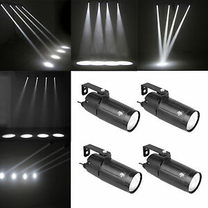 Led Pinspot Light White Wash Narrow Beam Pin Spot 4pack Dj