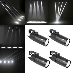 LED PinSpot Light White Wash Narrow Beam Pin spot 4Pack DJ Mirror Ball Spotlight