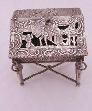 Victorian silver rococo novelty bureau Chester 1889 SVL
