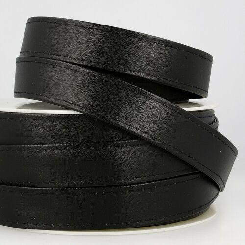 Black Faux Leather Webbing Sold per metre