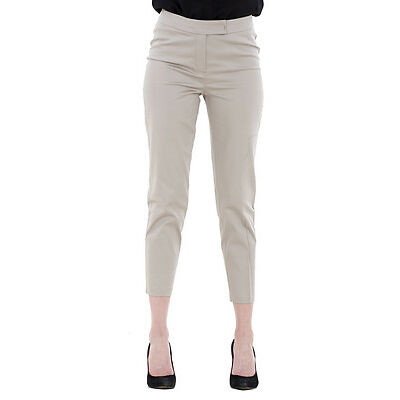 Ladies 7/8 Trousers Womens Cotton Stretch Cropped Tapered Slim Fit Crop