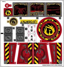 NINJAGO LEGO IRON ON TRANSFER T-SHIRT LIGHT OR DARK OR STICKER WALL DECO lot nl