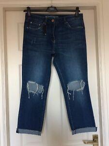 strappati vita alta New Long Jeans 8 Next Stunning Boy blu a Bnwt Fit Boyfriend 8zqFX