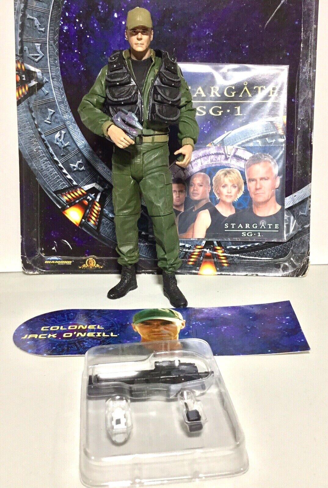 Poco común  Estrellagate SG-1 Coronel Jack O 'Neill 7  Figura Con Tarjeta & iluminado Coleccionable