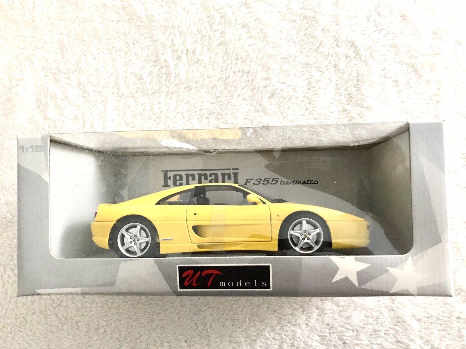 Ut modelle 1   18 skala druckguss - 180 074021 ferrari f355 berlinetta 1994 gelb