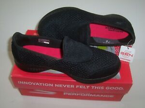 Skechers 14145 Go Walk 4 Kindle Black Slip On Comfort Walking Shoes Womens 8.5