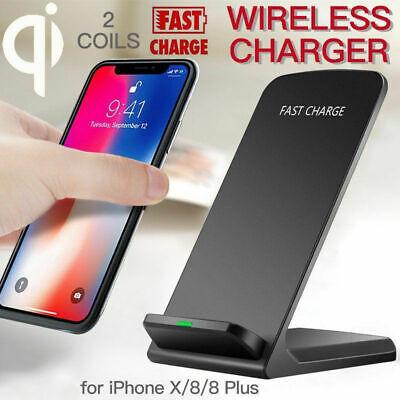 10W Dual Coil Qi Wireless Fast Charger Ladestation Induktive Ladegerät für Handy | eBay