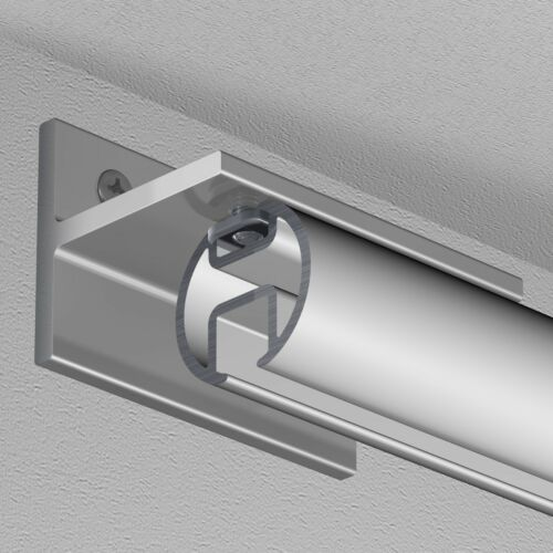 Innenlauf Aluminium silber eloxiert Gardineum runde Gardinenschiene Ø 20 mm