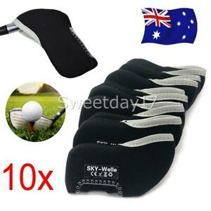 10pc-Neoprene-Sports-Golf-Club-Iron-Head-Cover-Putter-Head-Protective-Covers-OZ