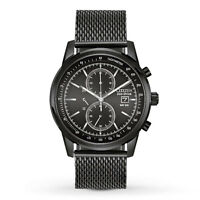 Citizen Eco-Drive Men's CA0338-57E Chronograph Black Mesh Band Watch