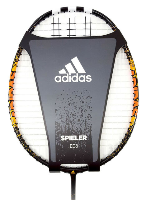 newest 9e65d 528a5 adidas Badminton Racquet SPIELER E08 Black Racket String with Cover RK607511