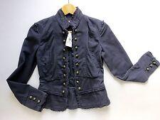 Women's MISS SELFFRIDGE Vintage Look Short Jacket Size UK 6 EUR 34 Navy BNWT