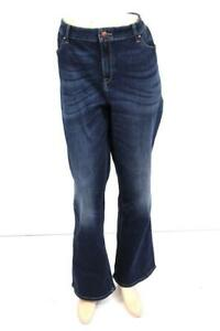 eb54f46a67c NEW $89 womens dark blue CHICOS platinum barely boot jeans slim fit ...