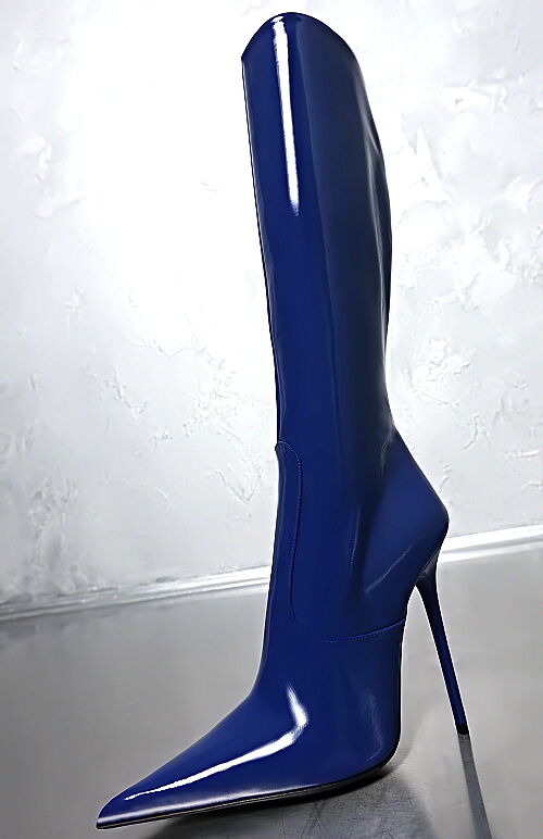 100% MBDE IN ITBLY SEXY ULTRB E84 POINTY HIGH HEEL STIEFEL BOOTS SCHUHE LEDER 41