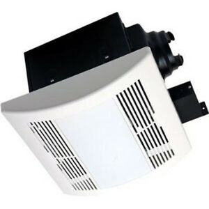 Bathroom fan shower fan super quite exhaust heater light combination 110 cfm ebay for Bathroom exhaust fan light heater reviews
