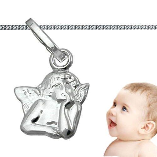 kleiner Baby Kinder Schutz Eengel mit Panzer Hals Kette 36 cm Echt Silber 925
