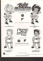 1992 Vintage Ad Sheet 1407 - Mattel Toys - Baby Rollerblade Dolls
