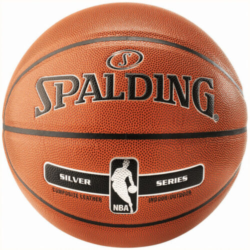 Composite Leather Spalding NBA Silver Indoor//Outdoor Basketball