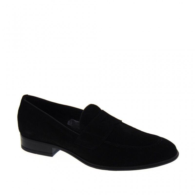 shoes MOCASSINI men ANTICA CUOIERIA SOLDINI 19763 ESTIVE CAMOSCIO black