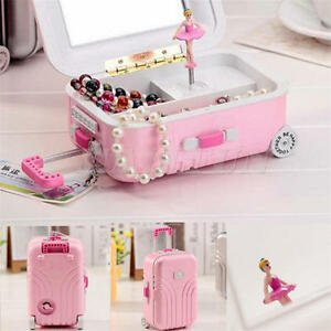 Dancer Ballet Luggage Music Jewelry Box Dancing Ballerina Musical