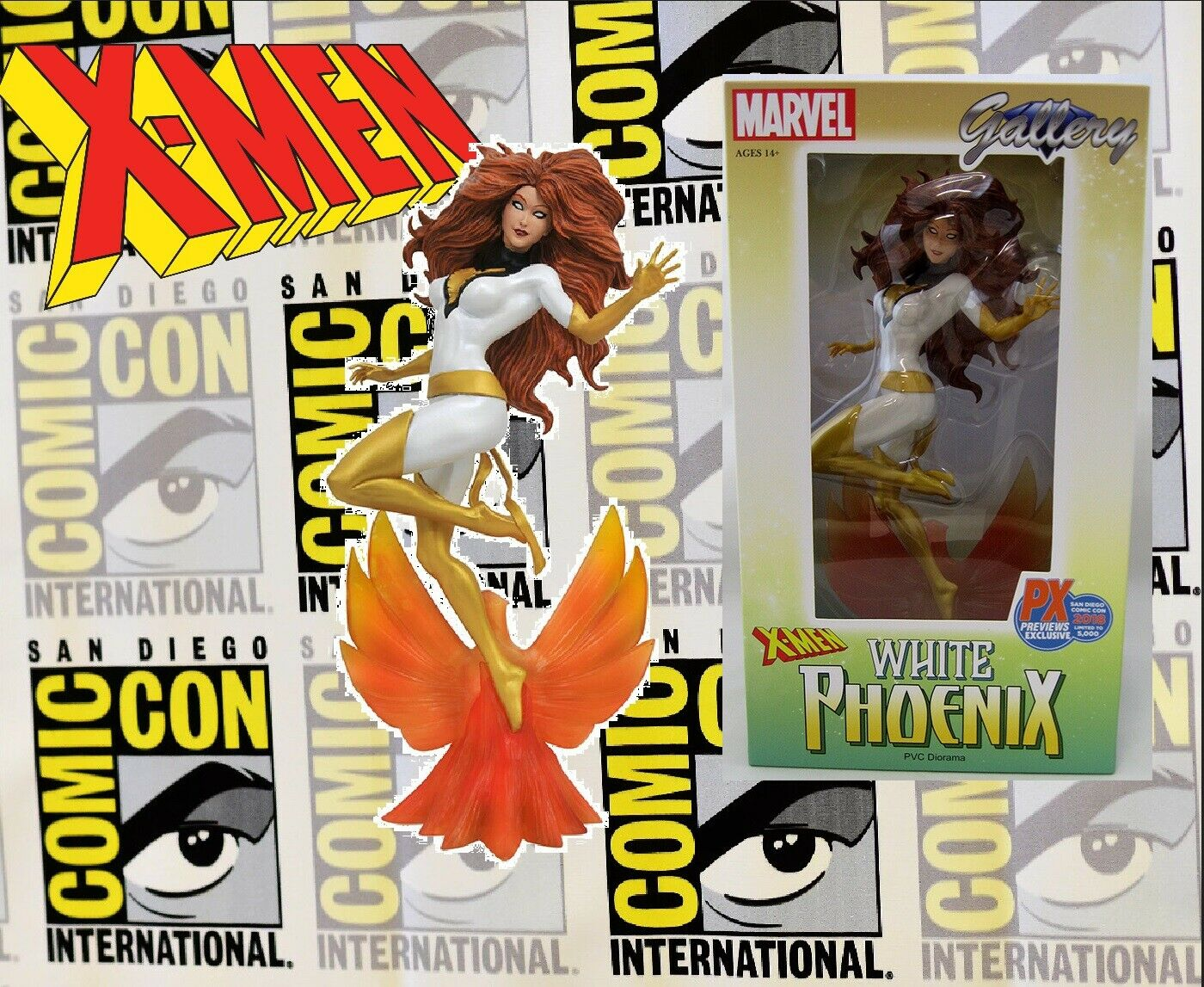 Diamond Select Gallery Gallery Gallery - Marvel X-Men Sdcc 2018 - White Phoenix PVC Diorama fab2f1