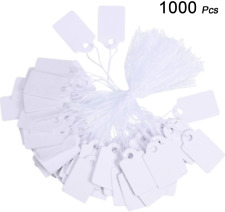 1000 Pieces White Marking And Writable Price Tags For Displaying Jewelry Clothin