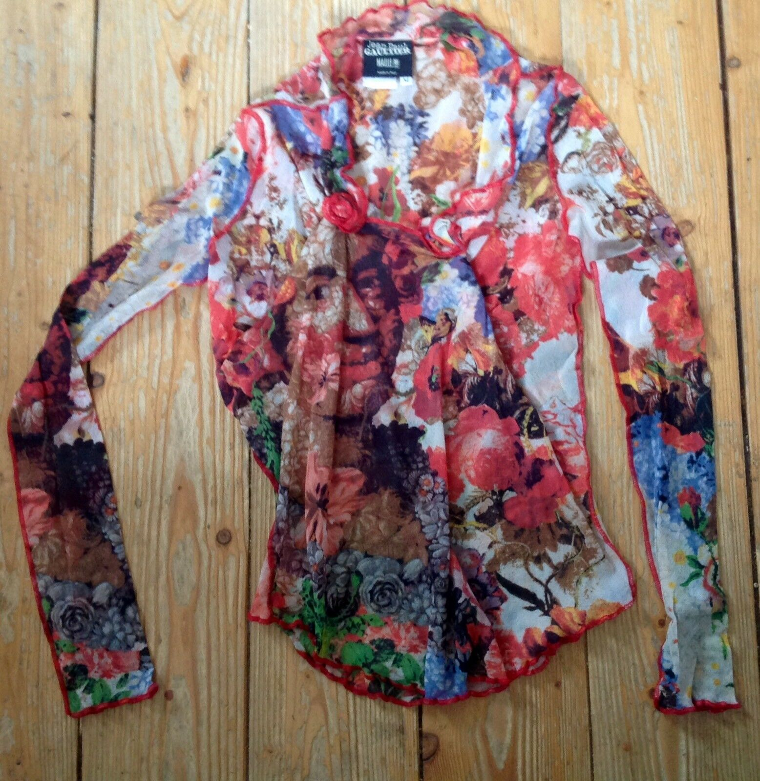 Jean Paul Gaultier Shirt Mesh bunt Gaultier Gr. M