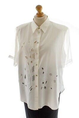 Aus Dem Ausland Importiert Vintage Orig 90er Bluse Weiß Lochstickerei Chiffon Viskose Sommerbluse 46 Verhindern, Dass Haare Vergrau Werden Und Helfen, Den Teint Zu Erhalten