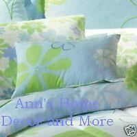 Jc Penney Floral Bloom Blue Lime Green Standard Pillow Sham