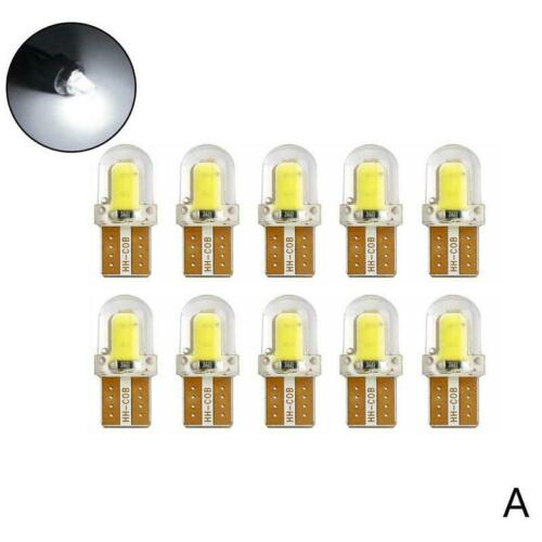 10X LED T10 W5W 8SMD 6500K CANBUS Silica Bright White License Light Bulb La Top