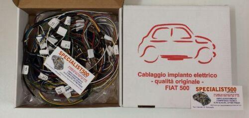 CABLAGGIO IMPIANTO ELETTRICO COME ORIGINALE ALTA QUALITA/' ASI FIAT 500 F 2 SERIE