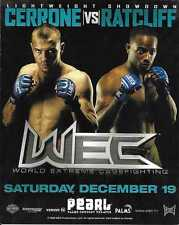Donald Cowboy Cerrone vs Ed Ratcliff WEC 45 4x5 Flyer Poster Card UFC 2009 Fight