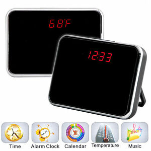 5MP HD Camcorder Alarm Clock Hidden Camera DVR Digital Video Motion /w Remote US